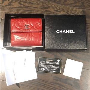 Chanel red wallet - full set